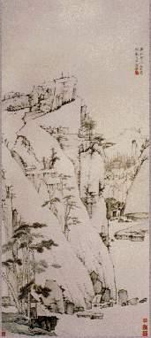 弘仁作品赏析:松壑清泉图