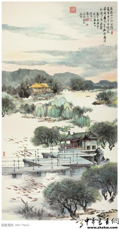 初山水画西湖十景