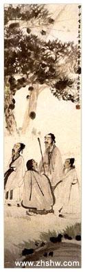 国画大师傅抱石作品赏析:《山阴路上》