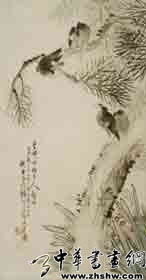 齐白石作品 空谷林鸟