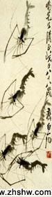 齐白石作品 虾
